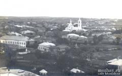 Панорама Можайска с Никольского собора. Вид южной части города.