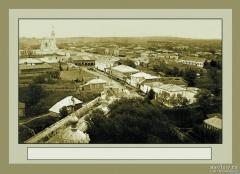 Центр Можайска с колокольни Никольского собора. Начало ХХ в.