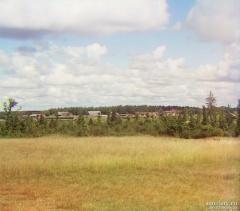 Вид на станцию Бородино от Утицкой флеши. Бородино. 1911.Фото Прокудина-Горского.
