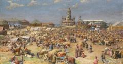 «Ярмарка в Можайске» 1916 г. Горохов Иван Лаврентьевич (Россия, 1863-1934)