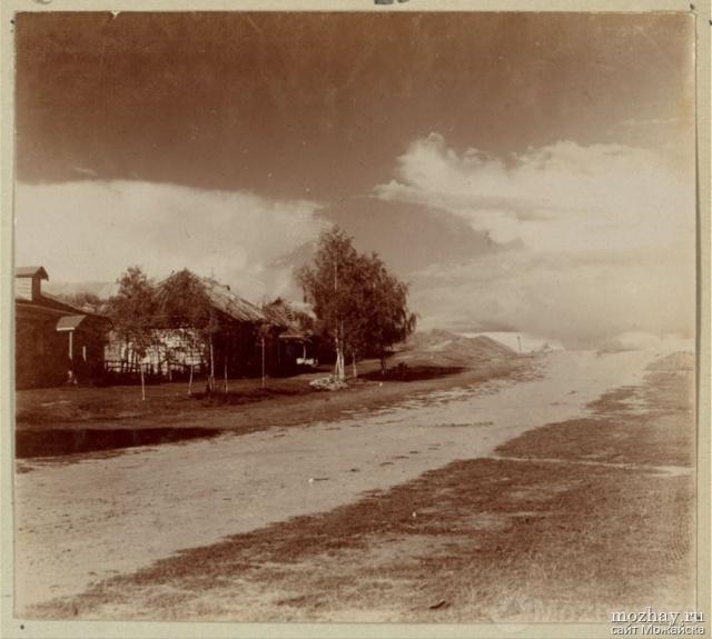 Деревня Горки. Место, откуда наблюдал за сражением Кутузов. Бородино. 1911.  Фото Прокудина-Горского.