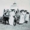 Члены царской семьи на батарее Раевского 1912 г.