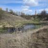 Вид со дна реки Можайки 28 апреля 2016