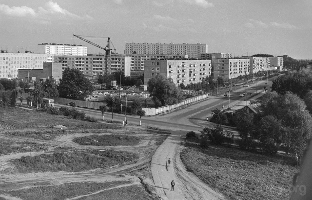 Можайск. Перекрёсток ул.20 января и ул.Мира. 1980-е гг. Фото Н.Никитина