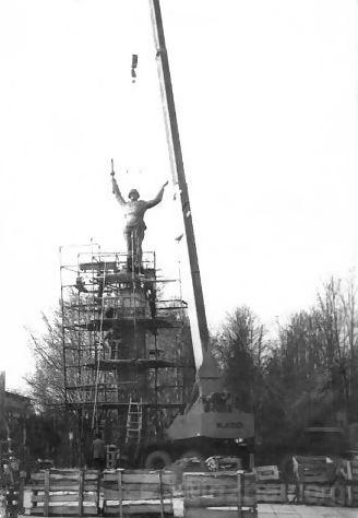 Строительство памятника Воину-освободителю. (3) 1985 г.