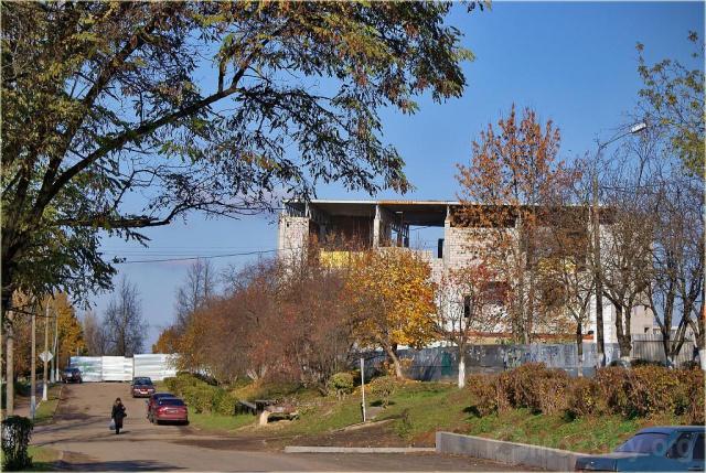 """Строительство """"Спектра"""".   18.10.2009 г. Фото А.Жучкова"""