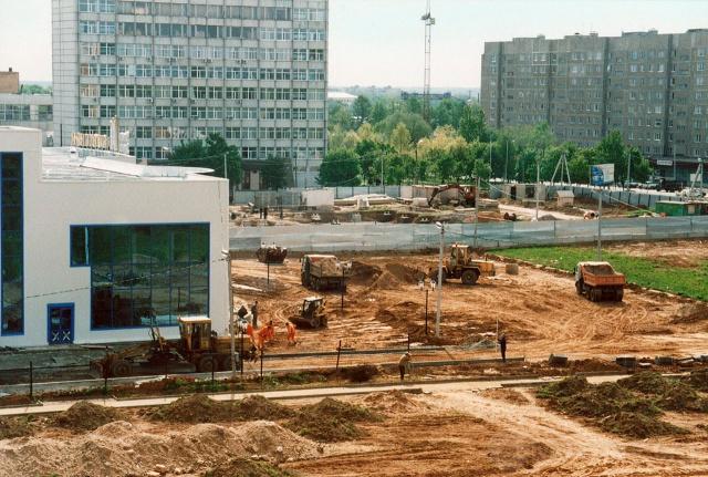 Можайск. Строительство Губернаторской площади. Май 2004 г. Фото Н.Никитина