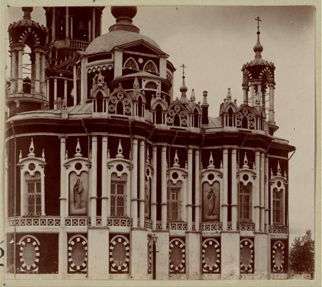 Детали стены Никольского собора. 1911 г.  Фото Прокудина-Горского.
