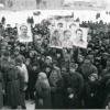 Митинг в Можайске в честь освобождения города. 1942 г. Фото Шагина. РГАКФД
