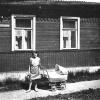 Можайск. Ул. Студёная д. №5. Май 1967 г. Фото С.Парфентьева из архива Е.Парфентьевой.