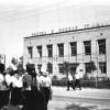 Можайск. Пионеры идут по ул Московской мимо д.17 . Май 1967 г. Фото С.Парфентьева из архива Е.Парфентьевой.