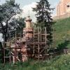 Часовня под кремлевским холмом в Можайске Московской области во время ремонта. Июнь 1993 г. Фото Мазницына О.А.