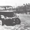Разбитая немецкая машина на улице г.Можайска. Январь 1942 г. Фото Шайхета А.