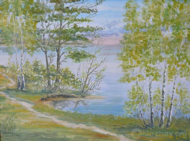 Можайское море. Подмытый берег. 1995 г.